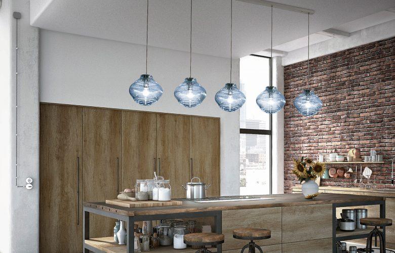 Italienische-Glas-Pendel-Leuchten-Modern