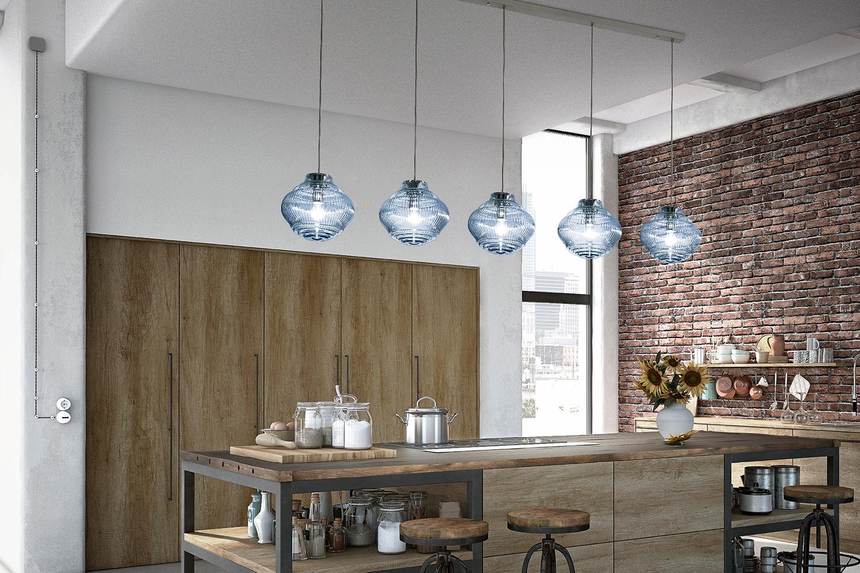 Italienische glas pendel leuchten modern decordesign for Italienische leuchten