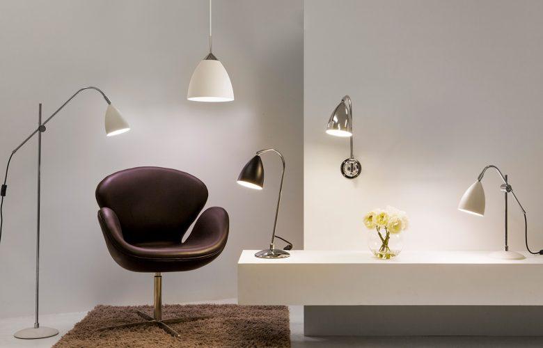 Stehlampen-Tischlampen-Metall-Fifties-style